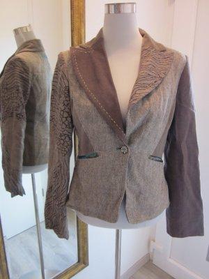 Blazer en laine bronze-beige viscose