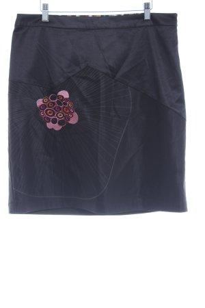 St-martins Bleistiftrock schwarz-dunkelorange Ringelmuster Elegant