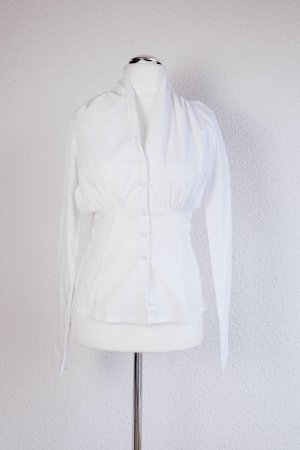 St-martins Stand-Up Collar Blouse white mixture fibre