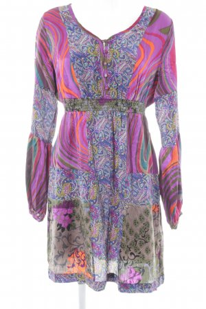 St-martins Hippie Dress mixed pattern extravagant style