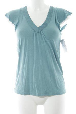St-martins V-Ausschnitt-Shirt blassblau Casual-Look