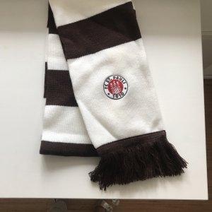 Gebreide sjaal bruin-wit