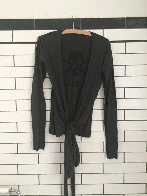 Maglietta aderente grigio scuro-nero