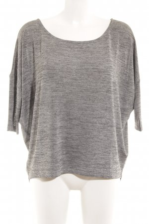ST. Sweatshirt grau-silberfarben Glanz-Optik