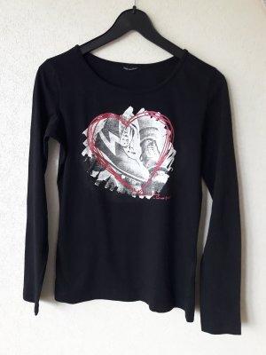 Staccato : Langarmshirt mit Herzdruck Größe 38
