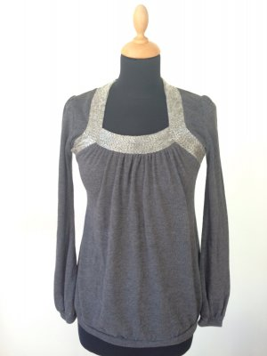 Knitted Top dark grey-light grey synthetic fibre
