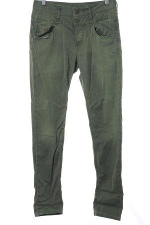 Staff Jeans Cargohose grün Casual-Look