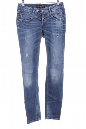 Staff Jeans Slim Jeans blau Destroy-Optik