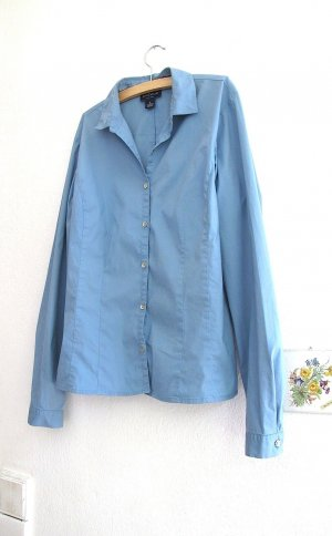 Ann Taylor Long Sleeve Blouse cornflower blue cotton