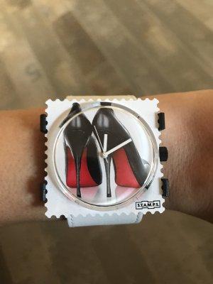 Stamps Uhr High Heels weiß und Armband weiß