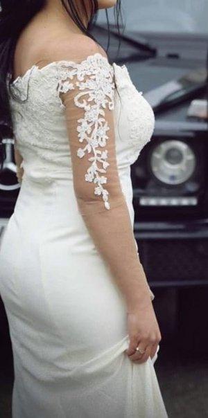 100% Fashion Robe de mariée blanc cassé