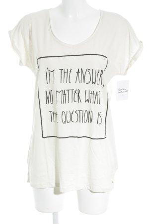 Stanley & Stella T-Shirt creme Schriftzug gedruckt Street-Fashion-Look