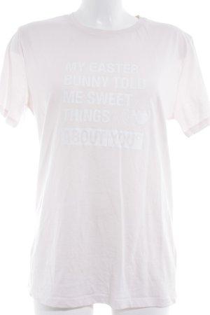 Stanley & Stella T-Shirt rosé-weiß Schriftzug gedruckt