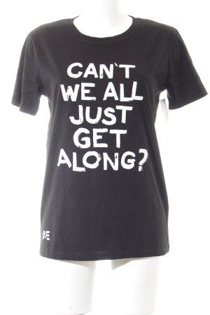 Stanley & Stella T-Shirt schwarz-weiß grafisches Muster Casual-Look
