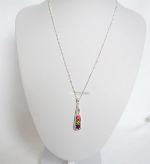 Stapel Strass Kette bunt