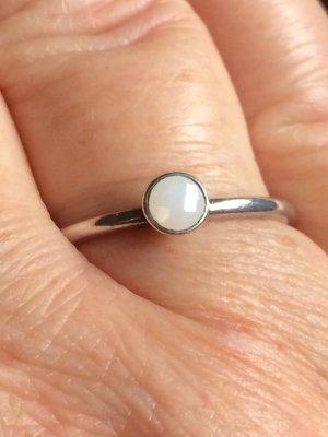 Zilveren ring wit-zilver Zilver