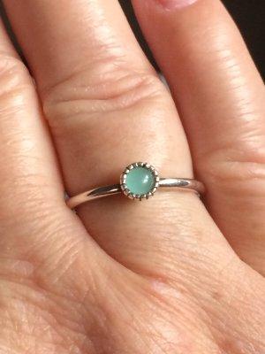 Zilveren ring lichtgroen Zilver