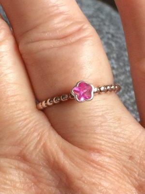 Zilveren ring roze Zilver