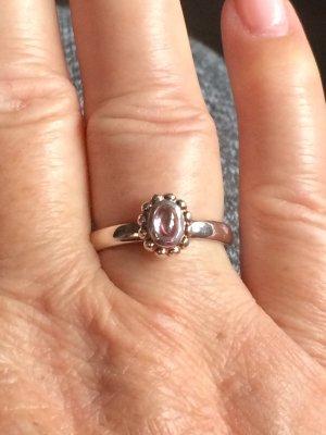 Zilveren ring lichtroze Zilver