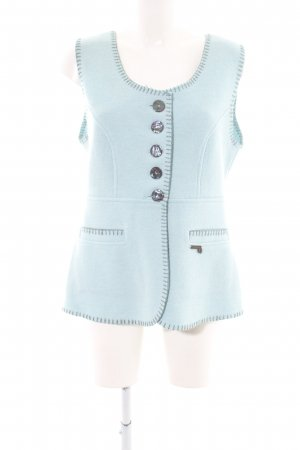 Stapf Strickweste blau Casual-Look