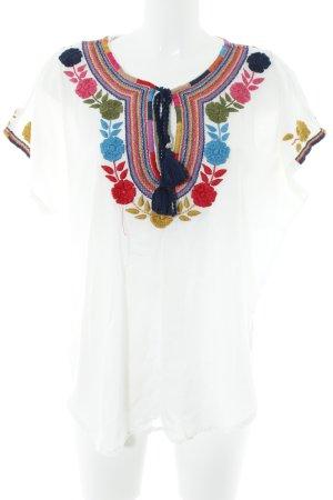 Star mela Tunique-blouse motif de fleur style décontracté