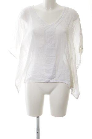 Star mela T-shirt col en V blanc style décontracté