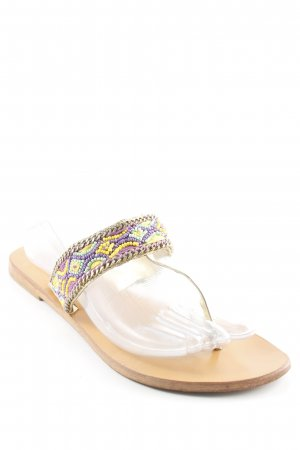 Star mela Toe-Post sandals abstract pattern beach look