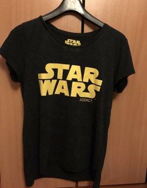 Camiseta estampada negro-amarillo