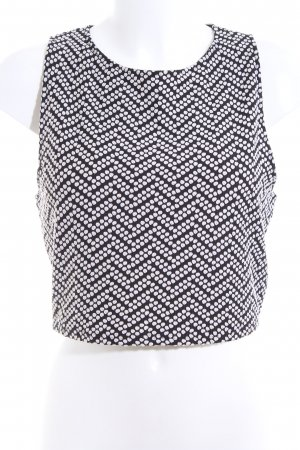 Staring at Stars Cropped Top black-white spot pattern business style