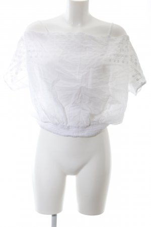 Staring at Stars Off-The-Shoulder Top white casual look
