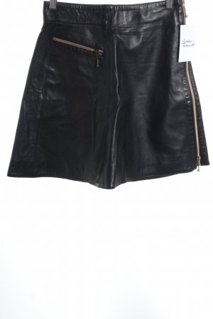 State of Claude Montana Leather Skirt black rockabilly style