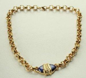 Collar estilo collier color oro-azul