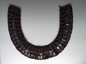 Statement-Collierkragen mit Strass und Perlen