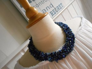 Collier Necklace dark blue-silver-colored