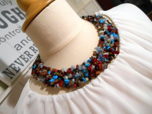 Statement Necklace blue-red