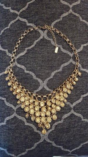 Statement Halskette Gold mit gelben Kristallen - SWEET DELUXE
