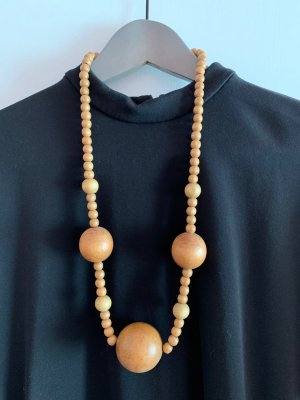 Statement Necklace sand brown wood