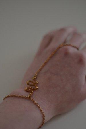 Statement Handkette Armband und Ring Schlange Orientalisch