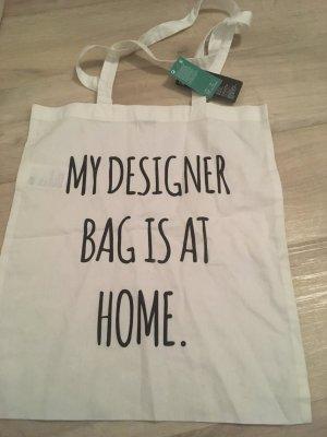 H&M Carry Bag white-black