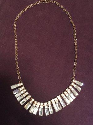 Collar estilo collier color plata-color bronce