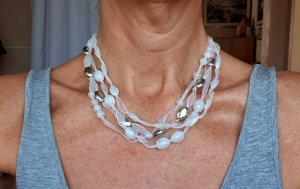 Collier Necklace white-silver-colored