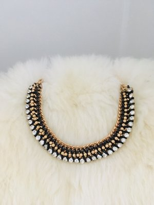 Statement Necklace black-gold-colored