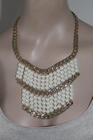 Statement - Kette * Collier * Gold * Perlen * nie getragen *
