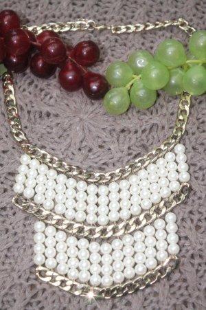 Chain gold-colored-white