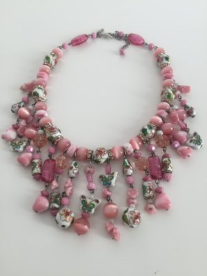 Statement Kette Collier rosa Pink Justwin absolut Mega!