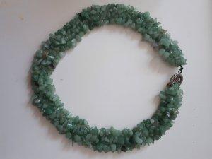 Cadena de cuentas turquesa-verde grisáceo