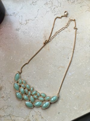 Statement-Kette in gold/mint