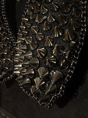 Sweet Deluxe Cadena de cuentas negro-color plata
