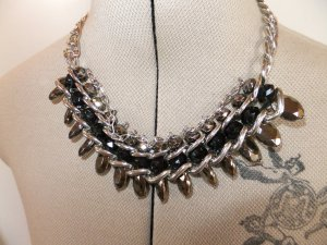 Statement Necklace silver-colored-black