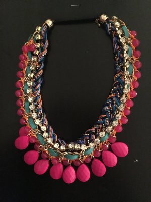 Statement-Kette pink bunt
